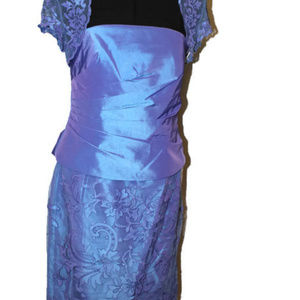 Montage Size 12 Blue Formal Dress